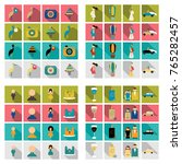 set of weddings icons in flat... | Shutterstock .eps vector #765282457
