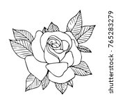 rose vector illustration.... | Shutterstock .eps vector #765283279