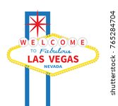 welcome to fabulous las vegas... | Shutterstock .eps vector #765284704