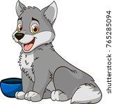 wolf vector drawing illustration | Shutterstock .eps vector #765285094