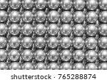 Silver Balls Lie Horizontally ...