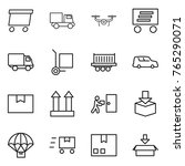 thin line icon set   delivery ... | Shutterstock .eps vector #765290071