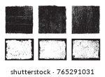 vector grunge frames.grunge... | Shutterstock .eps vector #765291031