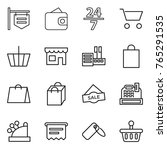 thin line icon set   shop... | Shutterstock .eps vector #765291535