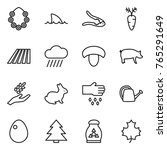 Thin Line Icon Set   Hawaiian...