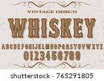 font script typeface vector... | Shutterstock .eps vector #765291805