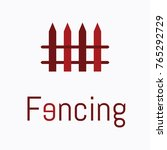 logo of fencing. | Shutterstock .eps vector #765292729