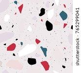terrazzo seamless pattern.... | Shutterstock .eps vector #765299041