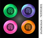 turn crystal ball design icon... | Shutterstock .eps vector #765301831