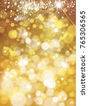 vector bokeh  sparkle  holiday... | Shutterstock .eps vector #765306565