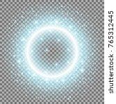 light ring with stardust ... | Shutterstock .eps vector #765312445