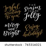 vector set of holidays... | Shutterstock .eps vector #765316021