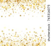 gold sparkling background with... | Shutterstock .eps vector #765316075