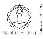 spiritual healing logo | Shutterstock .eps vector #765318709