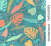 vector seamless pattern with... | Shutterstock .eps vector #765319351