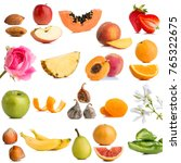 close up of multiple fruits and ...   Shutterstock . vector #765322675