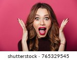 image of excited screaming... | Shutterstock . vector #765329545