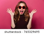 image of young surprised lady... | Shutterstock . vector #765329695