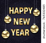 happy new year 2018 with golden ... | Shutterstock . vector #765332485