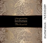vintage baroque wedding... | Shutterstock .eps vector #765333289