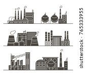 silhouettes of industry... | Shutterstock .eps vector #765333955