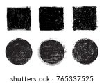 grunge stamps collection.vector ... | Shutterstock .eps vector #765337525