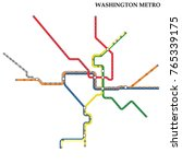 map of washington dc metro ... | Shutterstock .eps vector #765339175