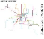 map of shanghai metro  subway ... | Shutterstock .eps vector #765339181