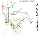 map of new york city metro ... | Shutterstock .eps vector #765339184