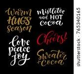 vector set of holidays... | Shutterstock .eps vector #765340165
