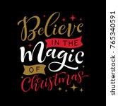 vector holidays lettering.... | Shutterstock .eps vector #765340591