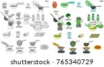 recipe falafel vector diy... | Shutterstock .eps vector #765340729