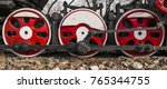 steam locomotive wheels close... | Shutterstock . vector #765344755
