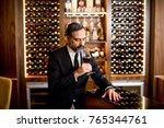handsome elegant businessman... | Shutterstock . vector #765344761