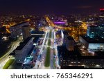 aerial drone view of katowice... | Shutterstock . vector #765346291