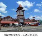 clock tower of stabroek market  ... | Shutterstock . vector #765351121