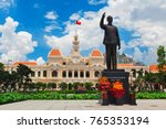 ho chi minh statue in front of... | Shutterstock . vector #765353194