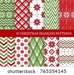 ten christmas different...   Shutterstock .eps vector #765354145