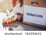 toys donations box | Shutterstock . vector #765355651