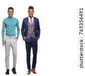 full body afro man | Shutterstock . vector #765356491