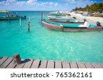 isla mujeres island caribbean... | Shutterstock . vector #765362161
