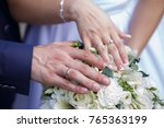 luxurious gold rings and a pair ...   Shutterstock . vector #765363199
