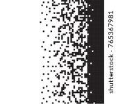 black and white pixel... | Shutterstock .eps vector #765367981