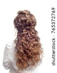 rear view of female hairstyle.... | Shutterstock . vector #765372769
