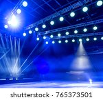 light from the scene  a rock... | Shutterstock . vector #765373501
