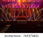 light from the scene  a rock... | Shutterstock . vector #765373831