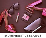 fashion cosmetic makeup. design ... | Shutterstock . vector #765373915