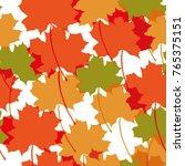 autumn seamless pattern... | Shutterstock .eps vector #765375151