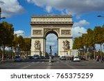 paris france   october 3 2017 ...   Shutterstock . vector #765375259