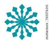 snowflake. element for winter... | Shutterstock .eps vector #765376141